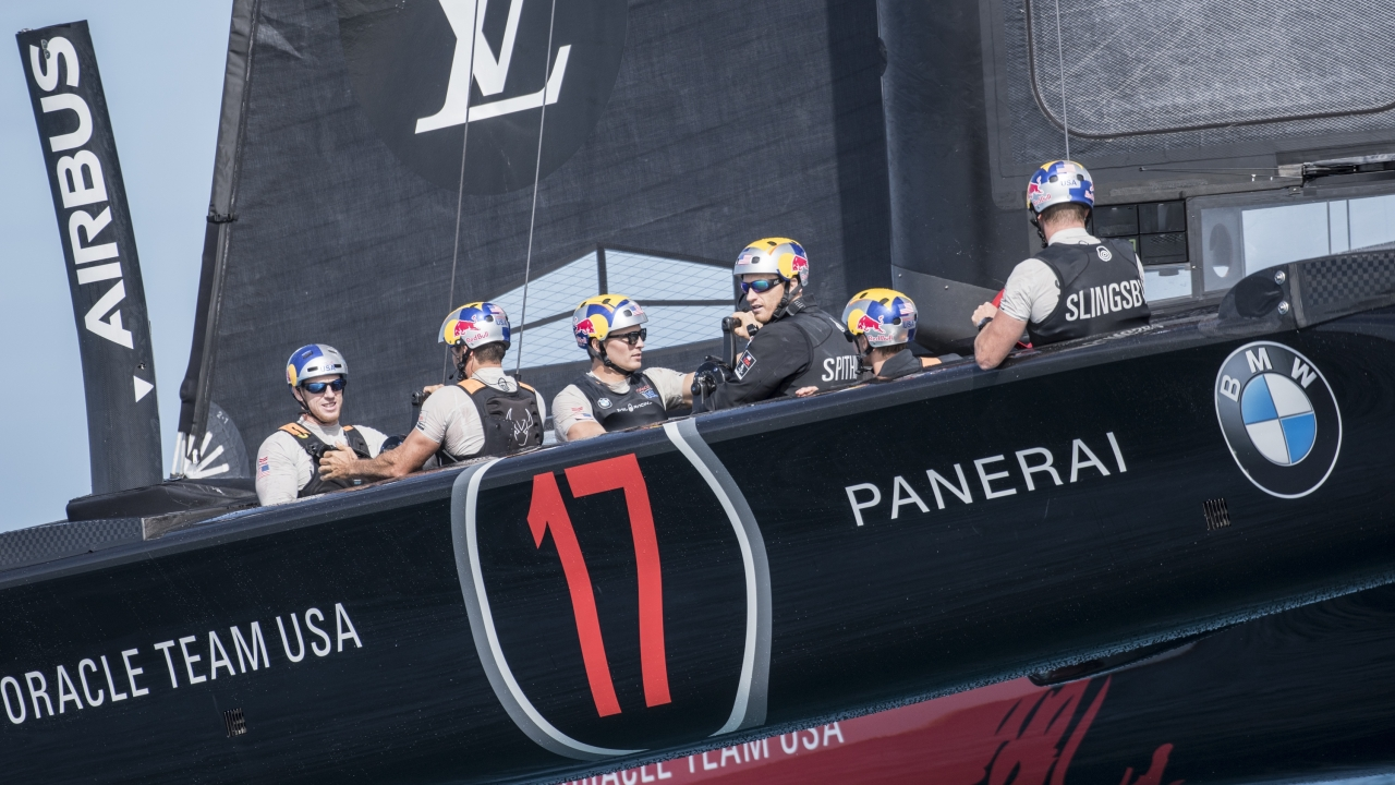 First sail of the new America's Cup Class boat.